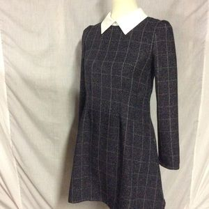 Goodnight Macaroon plaid dress with collar
